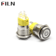 16mm 0.63inch Ring Led Illuminated Flat Head Metal Push Button Switch With Power Symbol Illuminated