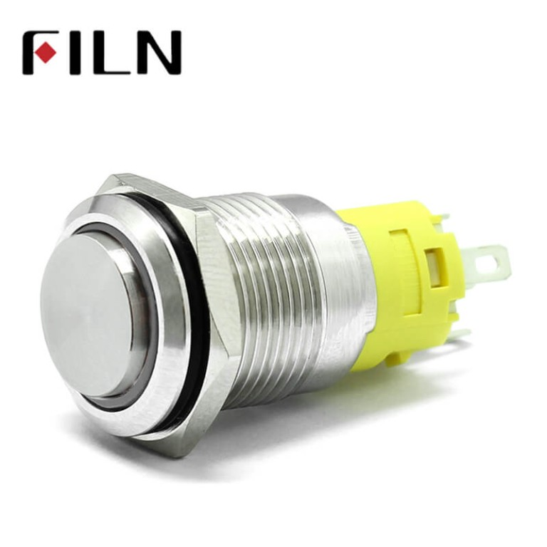 16mm 0.63inch Ring Led Illuminated High Hea Metal Push Button Switch