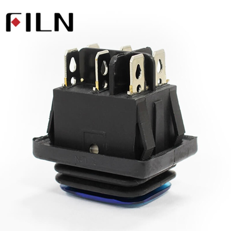 New Designs KCD4 Waterproof Rocker Led Illuminated Switch With Aluminum Actuatorwith Led Lamp