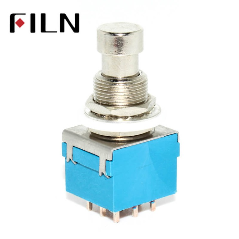 9pins Stomp On Foot Pedal Guitar 3PDT Latching Switch Guitar Accessories Guitar Push Button Footswitch