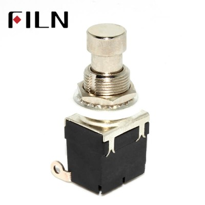 3 Soldering Pins Stomp On foot Pedal Guitar 3PDT Latching Switch Guitar Accessories Guitar Push Button Footswitch