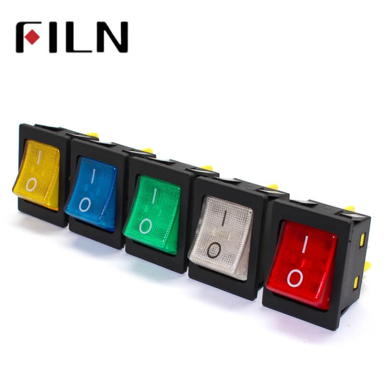 KCD4 Waterproof Rocker Switch With Led Lamp