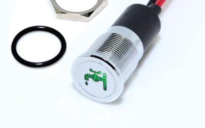 New designed black housing 19mm metal 12v indicator light with symbol