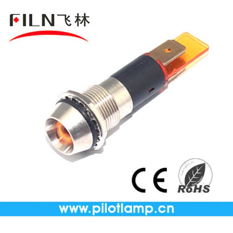 10MM 0.39inch 12V  metal indicator light without wire(FL1M-10CJ-1)
