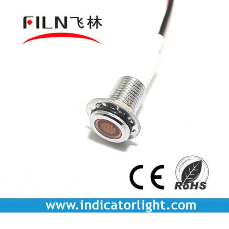 10MM 0.39inch 12V metal lndicator lamp without wire(FL1M-10FW-1)