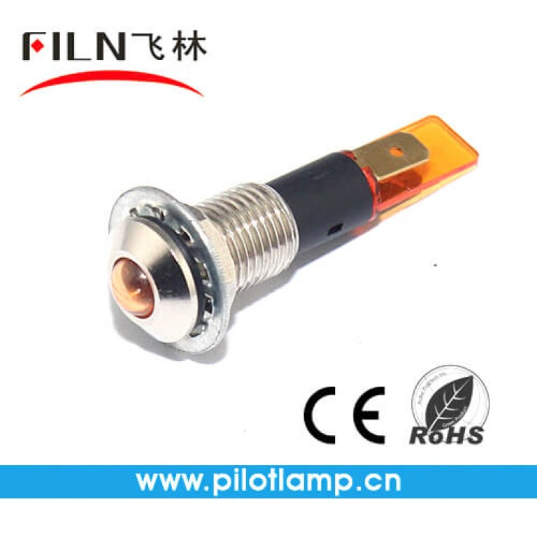 10MM 0.39inch 12V  metal  signal lamp without wire(FL1M-10SJ-1)