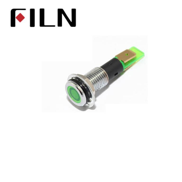 10MM 0.39inch 110V waterproof metal Flat head  lndicator light(FL1M-10FJ-1)