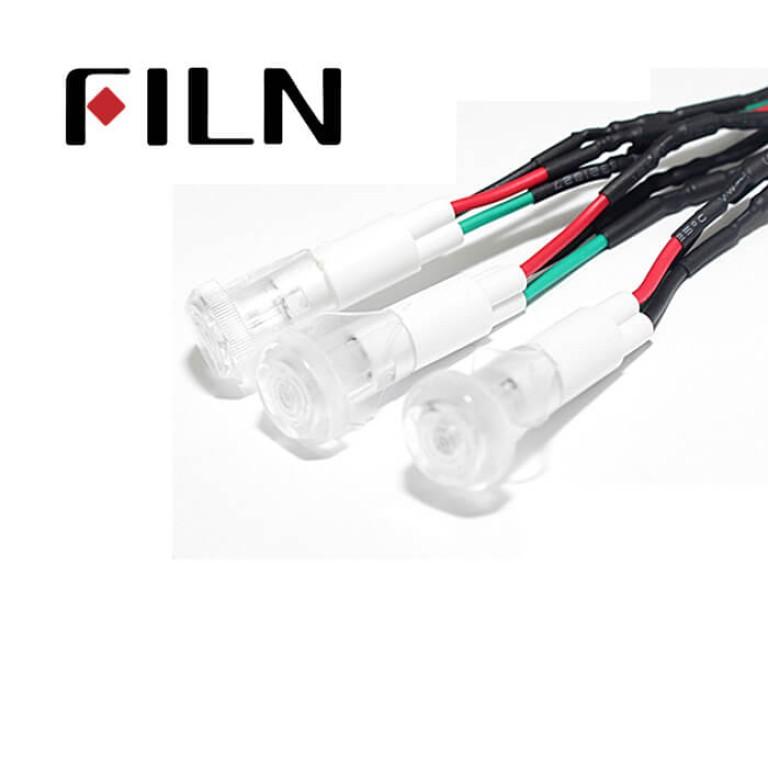 10mm 0.39inch 12V plastic led lndicator light(FL1P-10QW-2D)