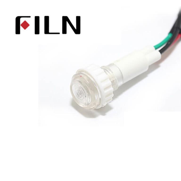10mm 0.39inch 12V plastic led lndicator light(FL1P-10NW-2D)