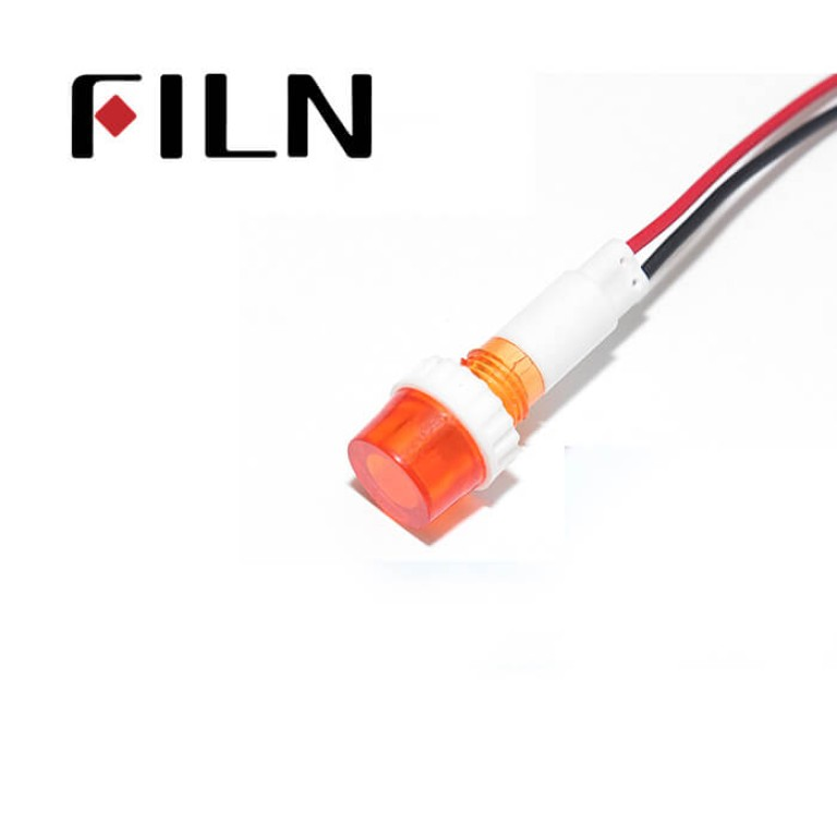 10mm 0.39inch 12V plastic led lndicator light(FL1P-10NW-3)