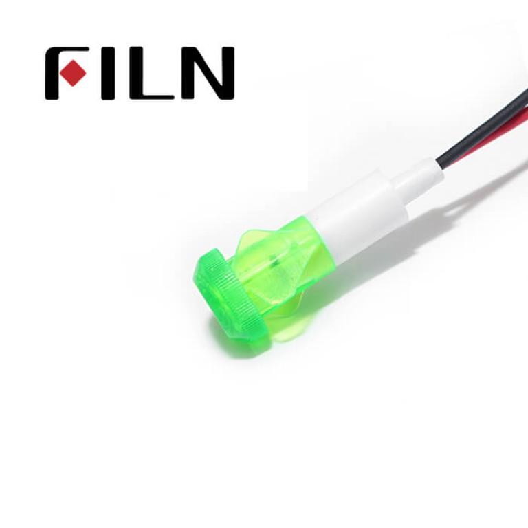 10mm 0.39inch 12V plastic led lndicator light(FL1P-10QW-2)