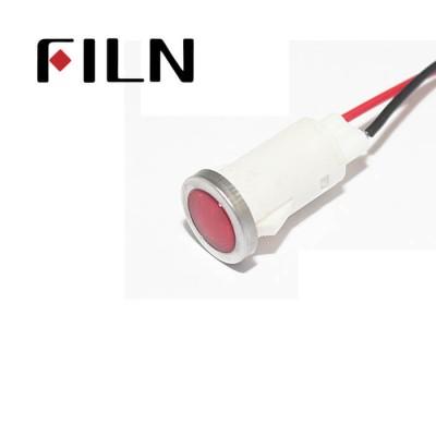 12.5mm 0.49inch 12V plastic led lndicator light(FL1P-12.5QW-2)