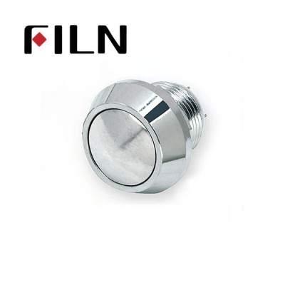 12mm 0.47inch stainless steel ball button no lamp momentary 1no 2 solder pins  Metal Push Button (FLM12□□-BJ-2P)