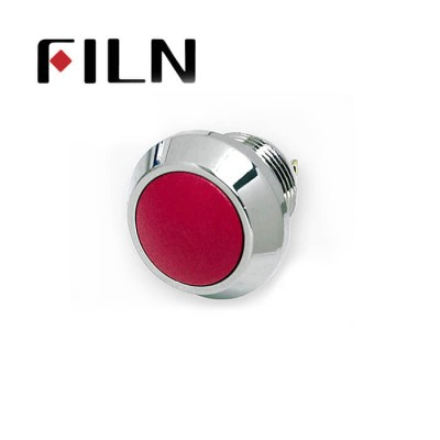 12mm 0.47inch stainless steel Customize ball button button no lamp momentary 1no 2 solder pins Metal Push Button (FLM12□□-BJ-C-2P)
