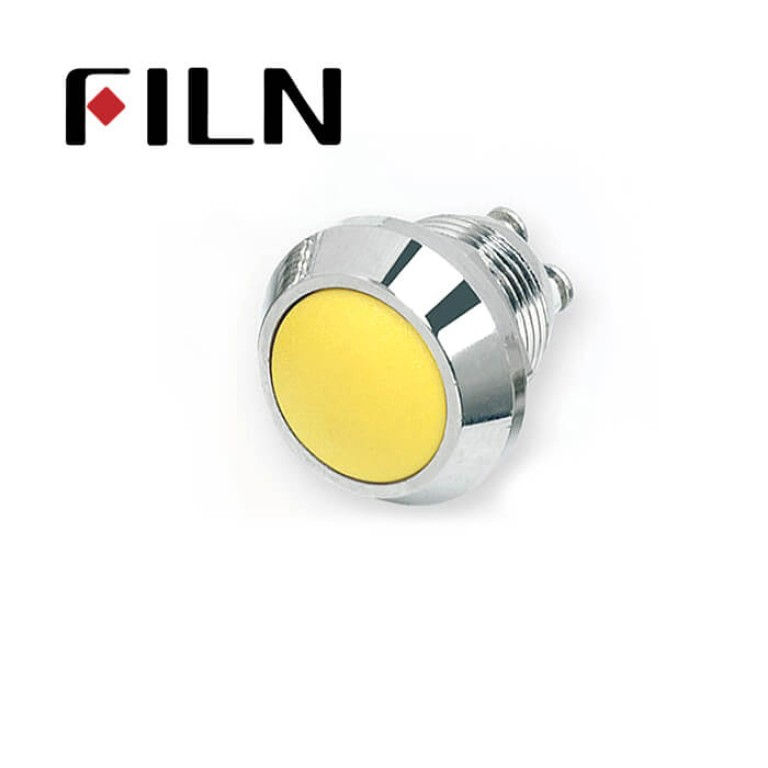 12mm 0.47inch stainless steel Customize ball button button no lamp momentary 1no 2 screw pins Metal Push Button (FLM12□□-BS-C-2P)