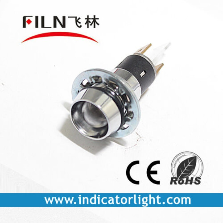 14mm 0.55inch  12V metal pilot lamp without wire(FL1M-14CJ-1)