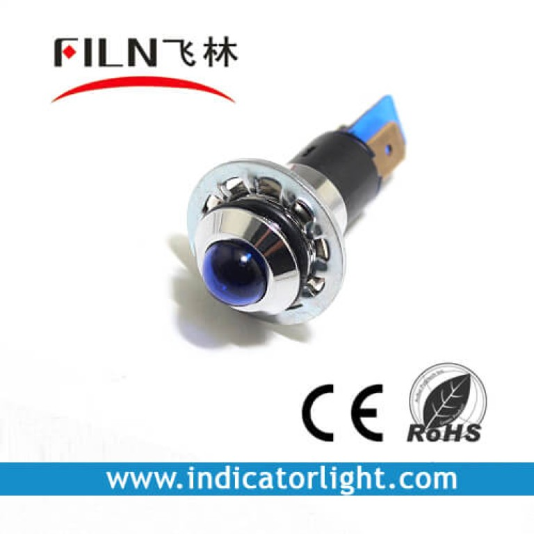 14mm 0.55inch 12V metal indicator light without wire(FL1M-14SJ-1)