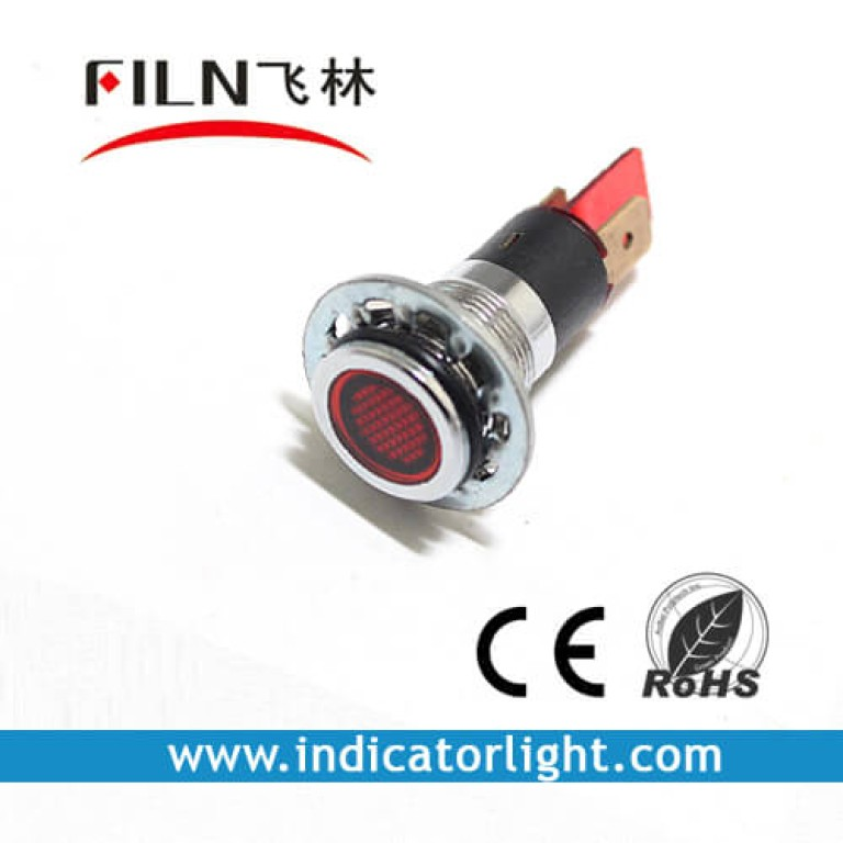 14mm 0.55inch 12V metal Indicator Light without wire(FL1M-14FJ)