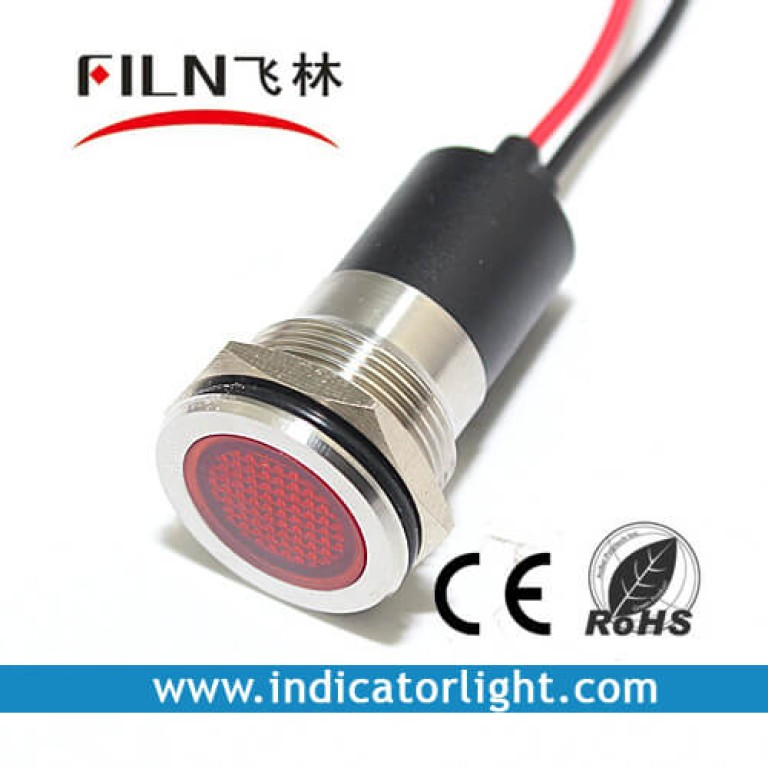 16mm 0.63inch 220v Flat led indicator lamp with wire(FL1M-16FW-1)