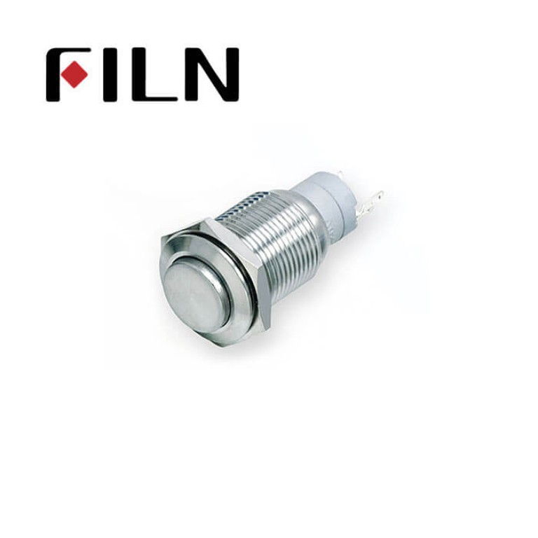 16mm 0.63inch Stainless steel high flat 1NO1NC no  light momentary 5 solder pins  Metal Push Button (FLM16□□-HJ-11-5P)