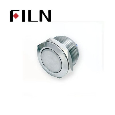 19mm 0.748inch Short type Flat Stainless Steel No light Momentary 2 Screw Pin Metal Push Button (FM19□□-FJ-T-2P)