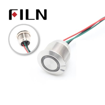 19mm Waterproof  Stainless Steel Push button Switch with wire(FLM19-FW-E-10-Z-T)