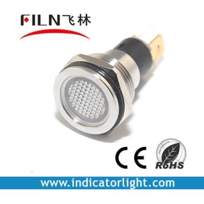 19mm 0.75inch 12V metal Flat lndicator light without wire(FL1M-19FJ-1)
