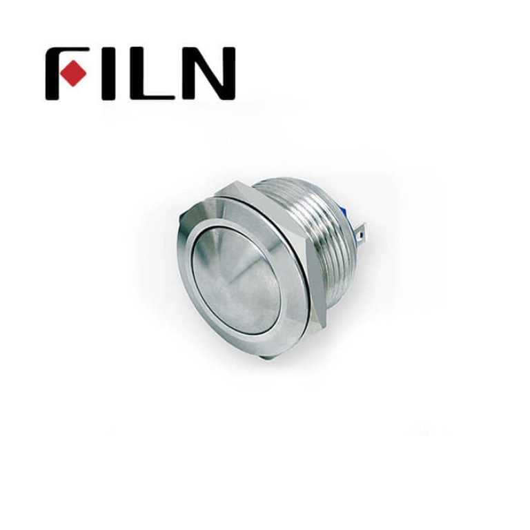 19mm 0.748inch Short type Ball Stainless Steel  No light Momentary 2 Screw Pin Metal Push Button (FLM19□□-BJ-T-2P)