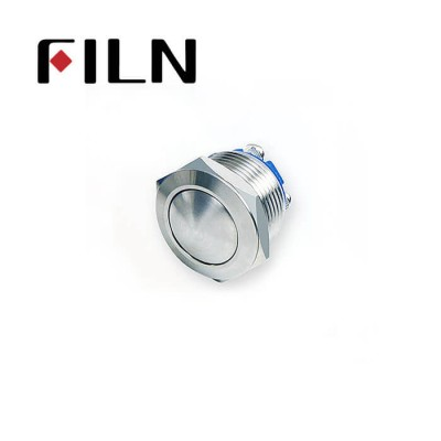 19mm 0.748inch Short type Stainless Steel Ball1NO Momentary 2 Screw Pin Metal Push Button (FLM19□□-BS-T-2P)