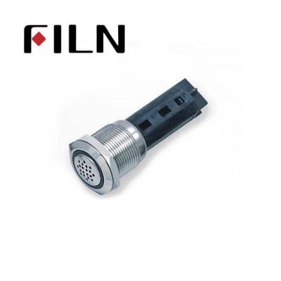 19mm 0.748inch Buzzer Flat Ball honecomb Ring illuminated  Nickel plated brass Metal Push Button (FLM19□□-Fb-E)