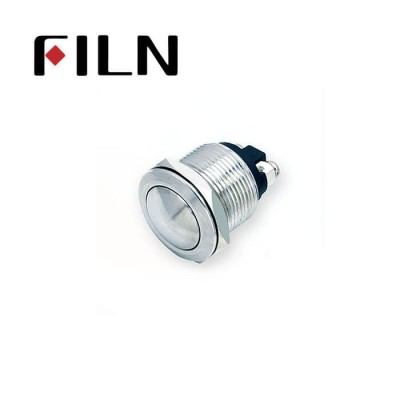 19mm 0.748inch Stainless Steel Round1NO Momentary 2 Screw Pin Metal Push Button (FLM19□□-BS-2P)