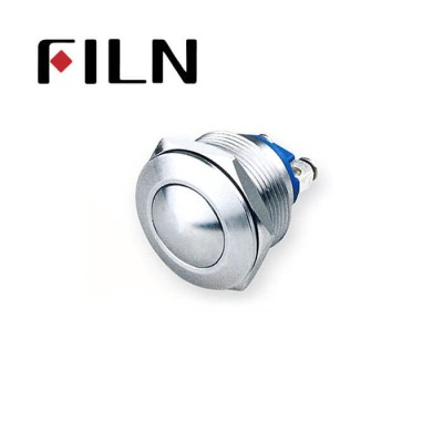 22mm 0.866inch stainless steel Non-illuminated,ball button 1no momentary 2 screw pins Metal Push Button(FLM22□□-BS-2P)