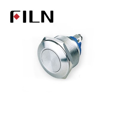 22mm 0.866inch stainless steel Non-illuminated,flat button 1no momentary 2 screw pins Metal Push Button(FLM22□□-FS-2P)