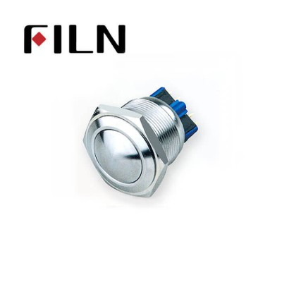 25mm 0.984inch no illuminated latching Ball head 1NO1NC stainless steel 6 solder pin Metal Push Button(FLM25□□-BJ-11-6P)