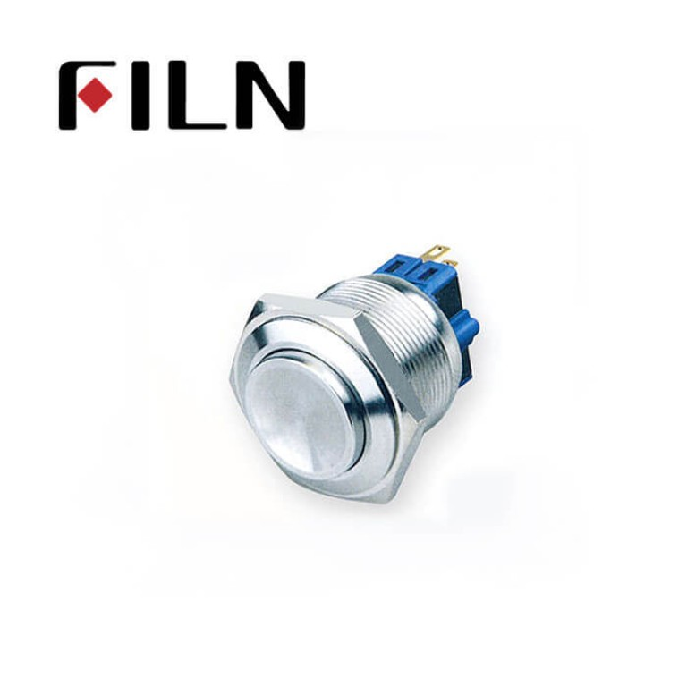 25mm 0.984inch no illuminated latching Concave head 1NO1NC stainless steel 6 solder pin Metal Push Button(FLM25□□-HJ-11-6P)
