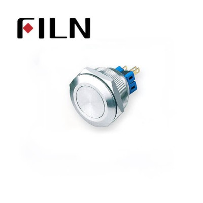 28mm 1.10inch no illuminated latching ball head 1NO1NC stainless steel 6 solder pin Metal Push Button(FLM28□□-FJ-11-4P)