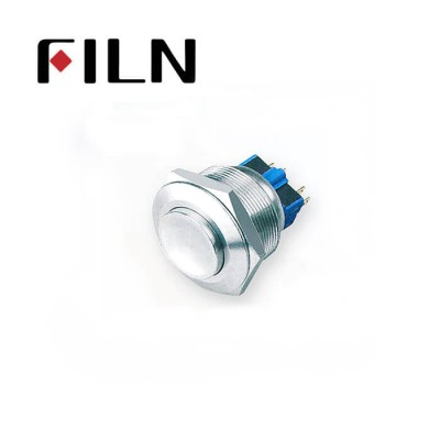 28mm 1.10inch no illuminated latching high flat head 1NO1NC stainless steel 6 solder pin Metal Push Button(FLM28□□-HJ-11-4P)