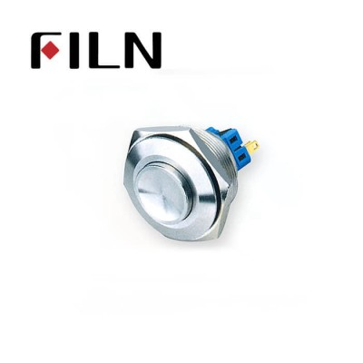 30mm 1.18inch no illuminated latching Concave head 1NO1NC stainless steel 6 solder pin Metal Push Button(FLM30□□-HJ)