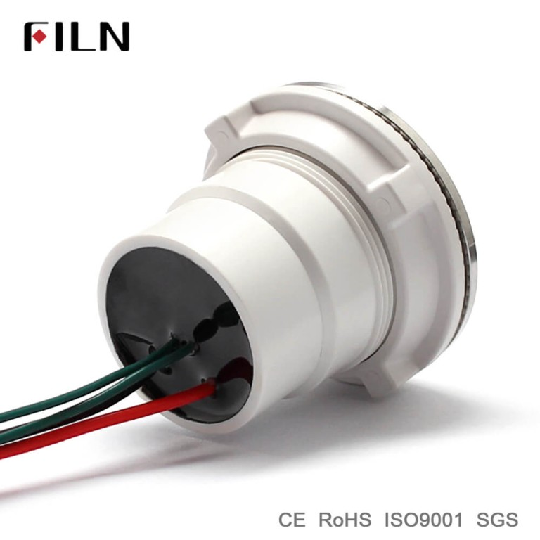 30mm 1.18inch ring led illuminated wire leading metal push button switch with plastic body stainless steel surface ring led illuminated