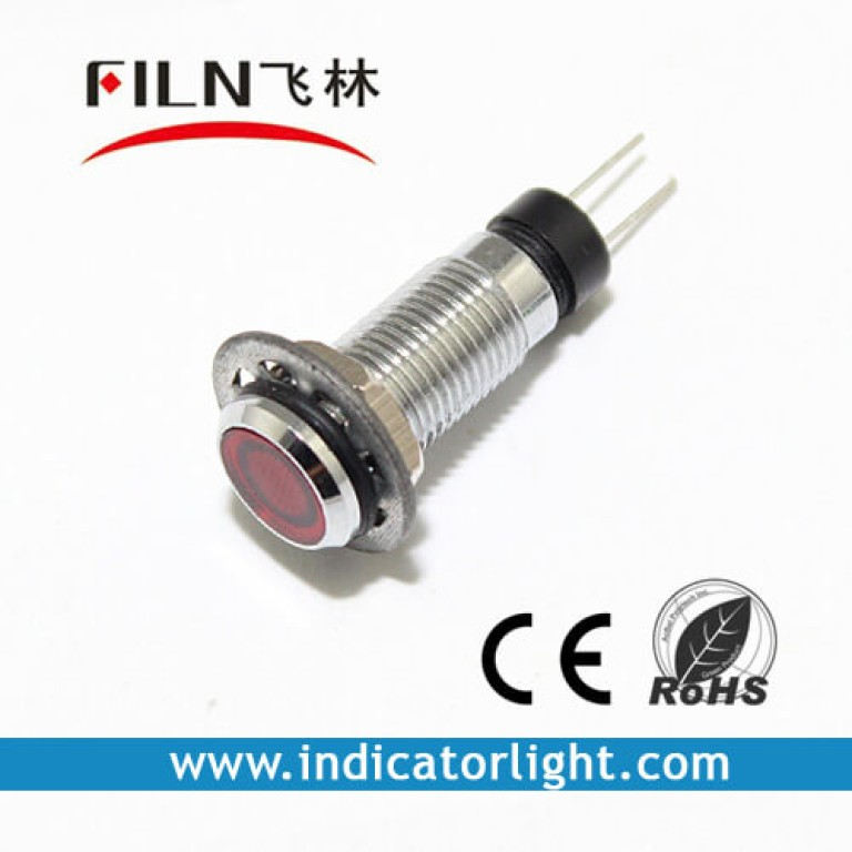 8MM 0.31inch 3V metal indicator light without wire(FL1M-8FJ-3)