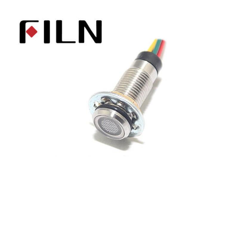 8mm 0.31inch 12V dual color new Flat pilot lamp(FL1M-8FW-D-2)