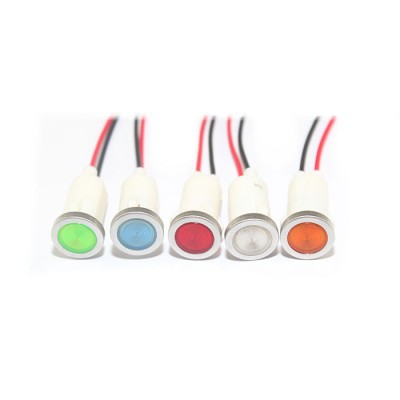 12mm 0.47inch 12V plastic led lndicator light(FL1P-12WN-4)