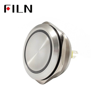 40mm 1.57inch ring led illuminated high head metal push button switch