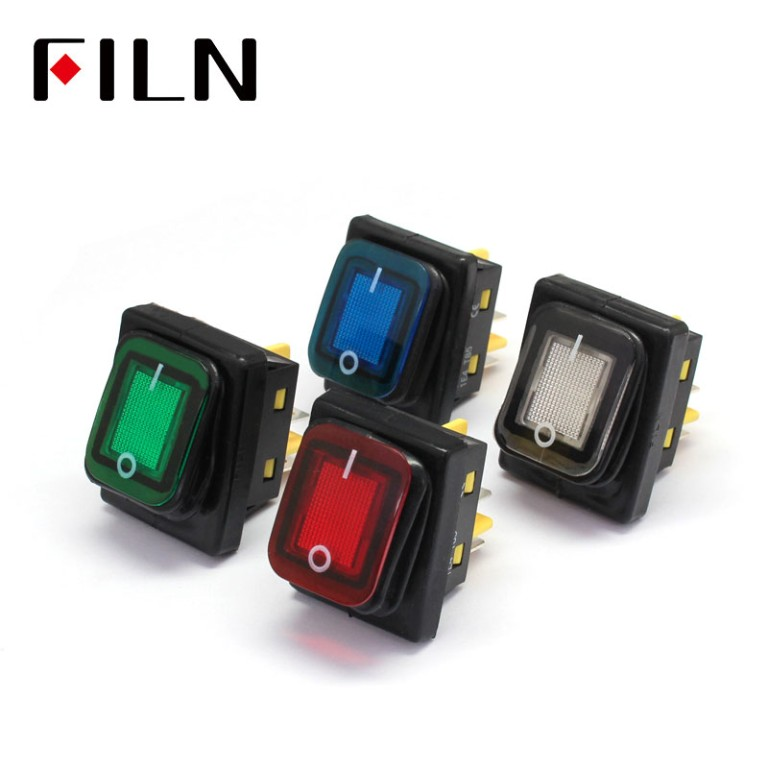 4 Pin IP67 Waterproof Rocker Switch