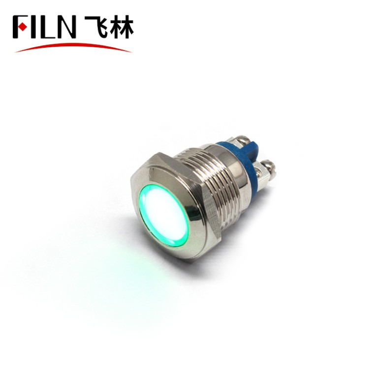 16mm 24V LED Screw Feet Metal Indicator Light