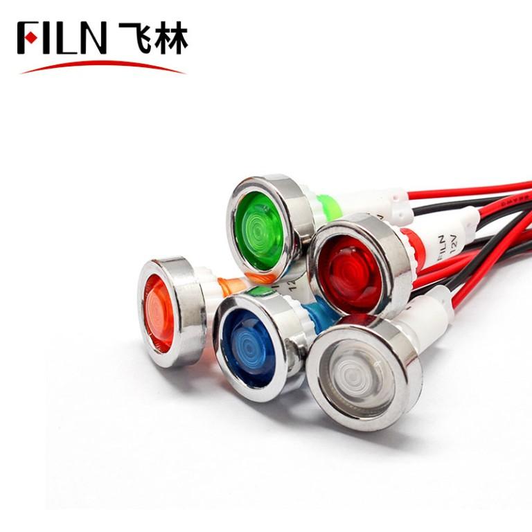 10mm 24v bule led ip67 Medical equipment plastic indicator light
