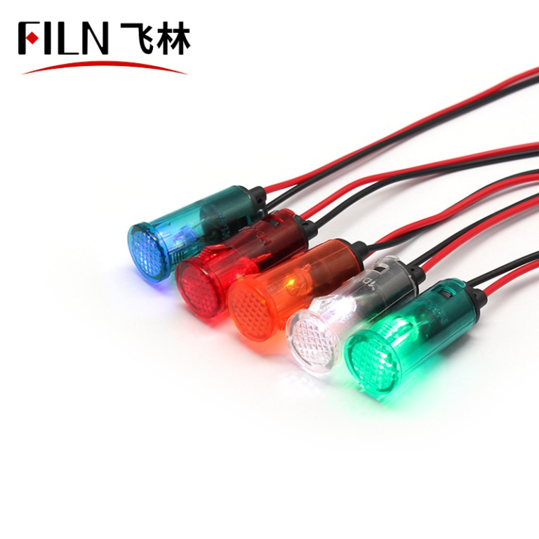 12.5mm Dash Board Plastic 110 Volt Indicator Light