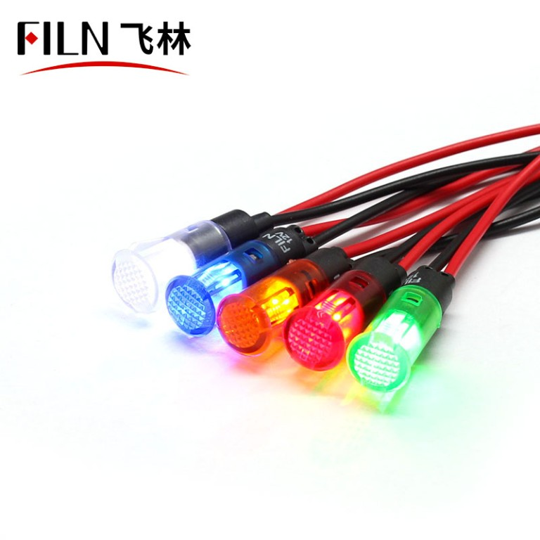 8MM 12V white clip-on led plastic indicator light