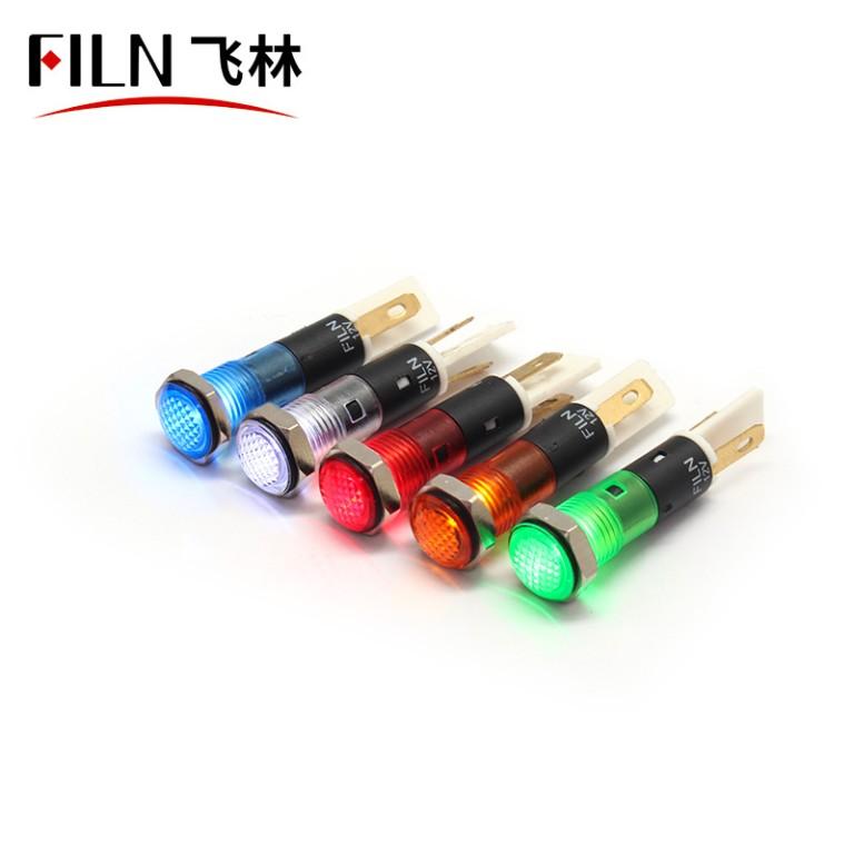 8MM 12V LED IP67 plastic indicator light