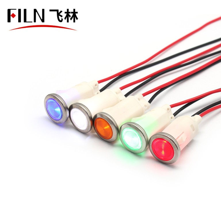 12.5mm 12v plastic indicator light